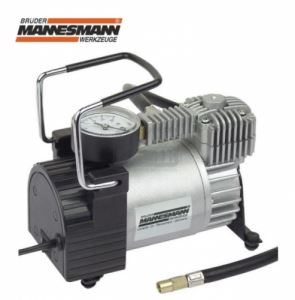 Мини компресор с манометър, 12 V, 10 bar Mannesmann