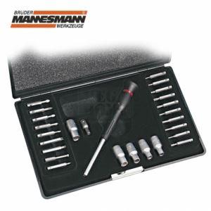 Комплект ключ, прецизни вложки и битове 26 бр. Mannesmann