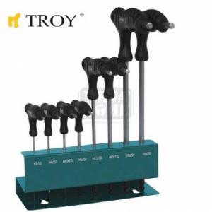Комплект шестограми в стойка Troy