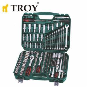 Комплект професионална тресчотка с вложки, 219 части Troy