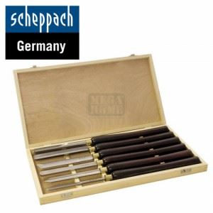Комплект стругарски длета за дърво Scheppach 6 броя