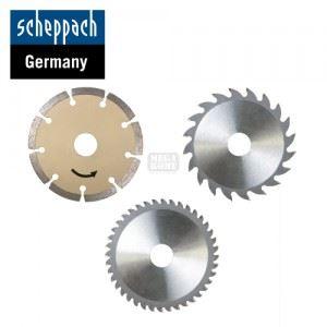 Комплект от 3 циркулярни диска за циркуляр PL285 Scheppach