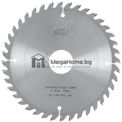 Циркулярен HM диск за дърво Pilana 250 мм х 30 мм z60