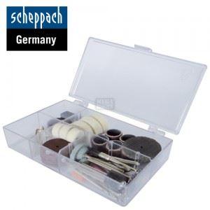 Комплект накрайници за гравиране и шлайфане 64 части Scheppach