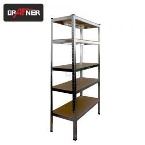 Стелаж с 5 рафта Grafner 180 x 90 x 40 см