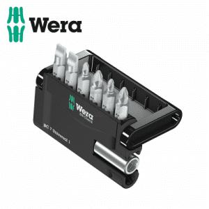 Комплект битове с държач в поставка, 7 части WERA
