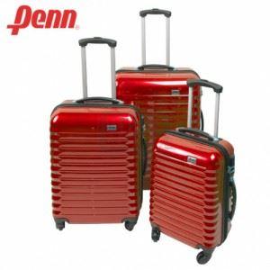 Куфар PVC с колелца и телескопична дръжка Penn червен цвят