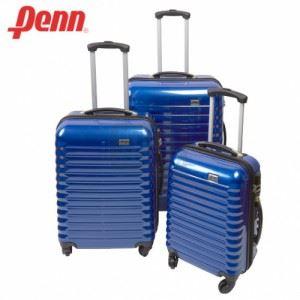 Куфар PVC с колелца и телескопична дръжка Penn син цвят