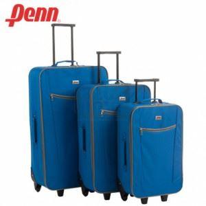Куфар текстилен с колелца и телескопична дръжка Penn син цвят