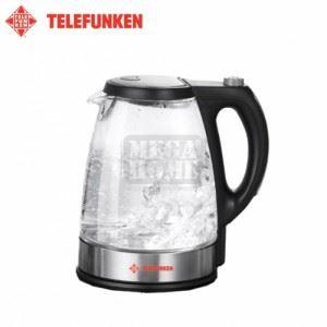 Електрическа стъклена кана Telefunken 1.7 л син LED