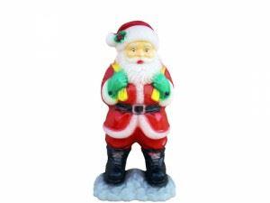 Светеща фигура Рото Дядо Коледа среден М