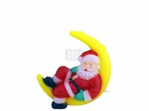 Светеща фигура Рото Дядо Коледа на луна