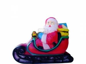 Светеща фигура Рото Дядо Коледа на шейна
