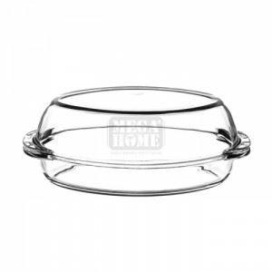 Стъклена купа с капак Pasabahce, овал, 2 + 1.7 л Borcam