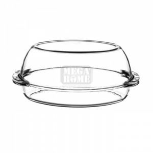 Стъклена купа с капак Pasabahce, овал, 2 + 2.2 л Borcam