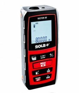 Ролетка лазерна противоударна 0.20 - 80.00 м Sola Vector 80