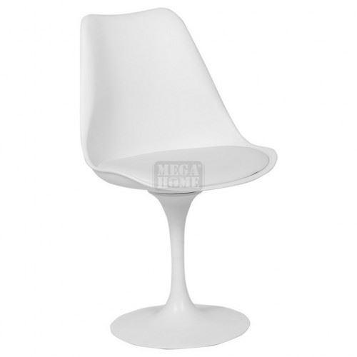 Трапезен стол Carmen 9961 бял - бяла седалка