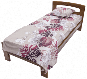 Легло от масив Flexible Тива тъмен орех 82 - 180 х 190 - 200
