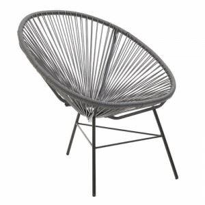 Модерен стол в сиво Inart