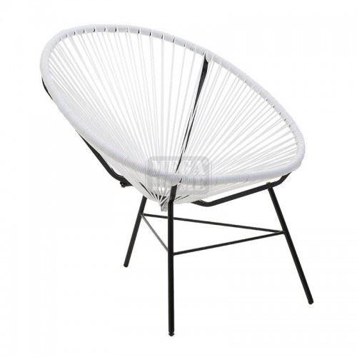 Модерен бял стол Inart