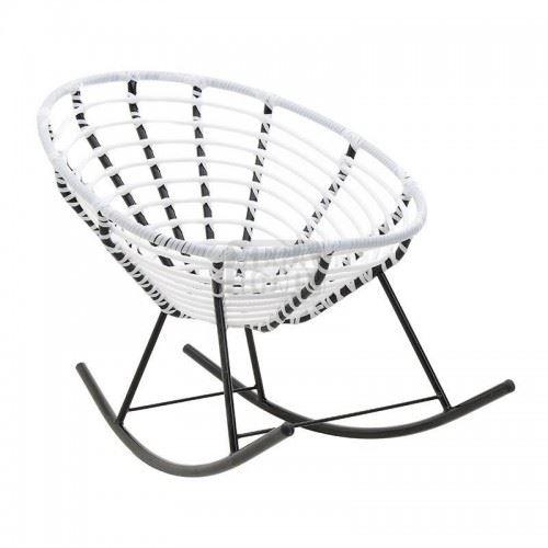 Люлеещ стол плетен бял Inart