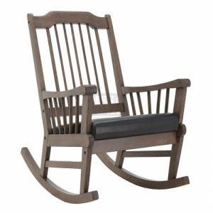 Дървен люлеещ се стол Inart