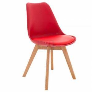 Трапезен стол Inart с дървени крака