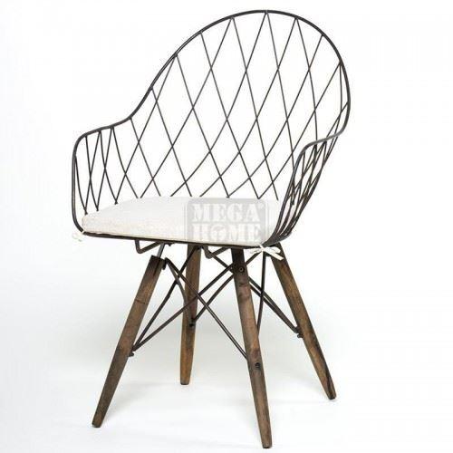 Метален стол с възглавница Inart 3-50-716-0017