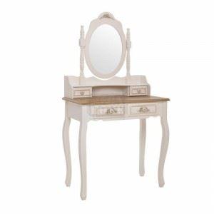 Тоалетка с огледало Inart 75 x 40 x 140 см
