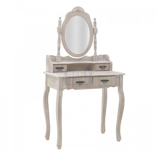 Дървена тоалетка с огледало Inart 75 x 40 x 140 см