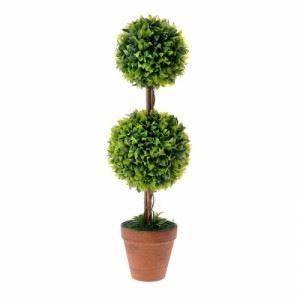 Изкуствено дърво в саксия - двойно, 50 см Inart
