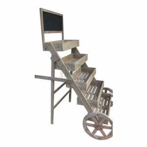 Декоративна количка - цветарник, за 5 саксии Inart