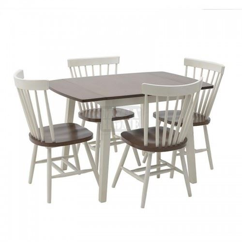 Комплект трапезна маса с 4 стола Inart