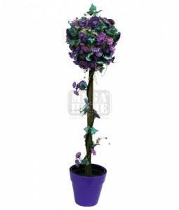 Изкуствено растение в саксия, лилаво 90 см Inart