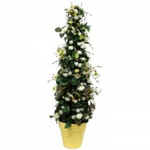 Изкуствено растение в саксия, жълто 85 см Inart