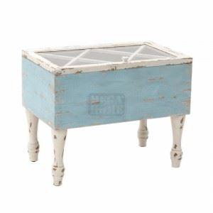 Дървена маса за кафе Inart 43 x 45 x 45 см