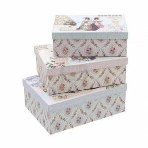 Правоъгълни декоративни кутии, 3 бр. Inart