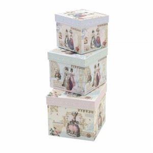 Квадратни декоративни кутии, 3 бр. Inart