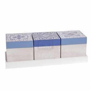 Комплект кутии с поднос, 3 бр. Inart