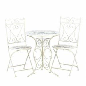Комплект метална маса и 2 стола Inart
