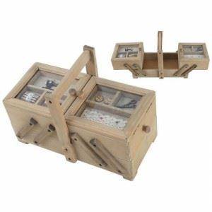 Двойна кутия за шиене с дръжка Inart