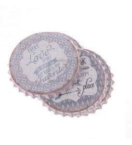 Комплект подложки от полирезин, 4 бр. Inart