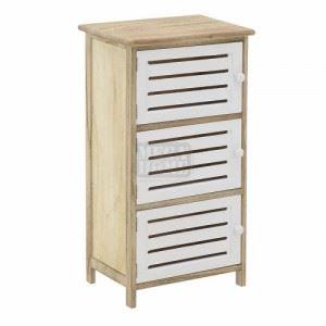 Дървен двуцветен шкаф с 3 вратички N-art