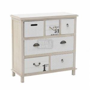Дървен шкаф Inart 76 x 32.5 x 77 см