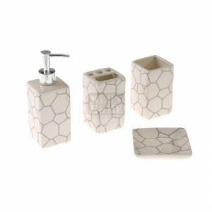 Комплект за баня с щампа, 4 части Iliadis