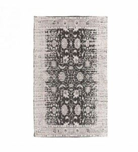 Шенилен килим в черно-сив цвят Inart 70 х 110 см