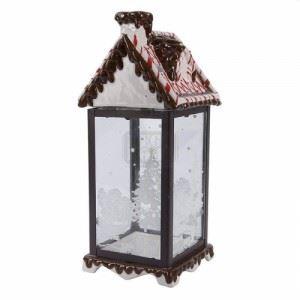 Коледен фенер Inart 15 x 14 x 34 см