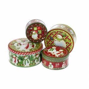Коледни деко кутии Iliadis 4 броя 22 х 10 см