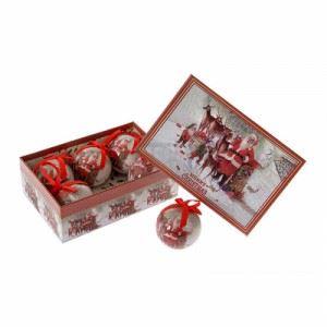 Декорация топки 6 броя в кутия Inart 7.5 см