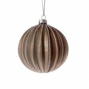 Декорация стъклени топки 4 броя Inart 10 см